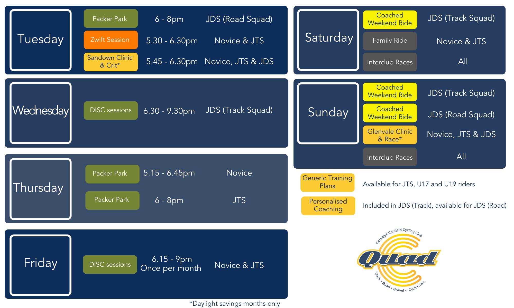 QuadC Weekly Program